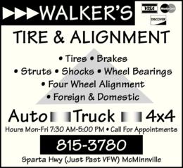 Tire Dealers in Six County, TN